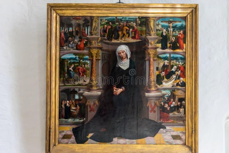 Peinture d'Adriaen Isenbrant - notre Madame des sept Sorrowsat images libres de droits