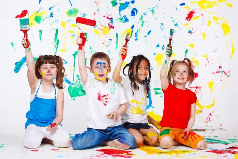 Peinture d'amis photos libres de droits