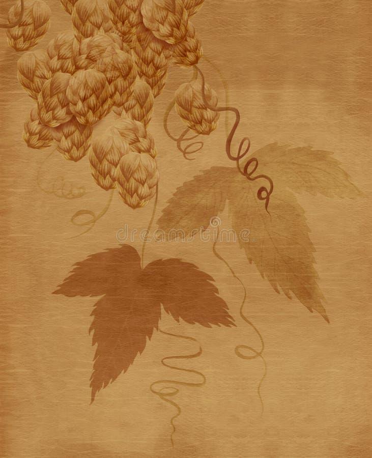 Peinture d'aquarelle de centrale d'houblon illustration stock