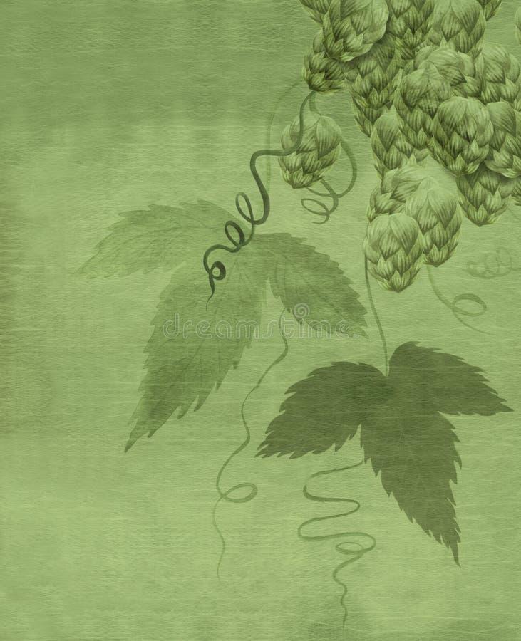 Peinture d'aquarelle de centrale d'houblon illustration libre de droits