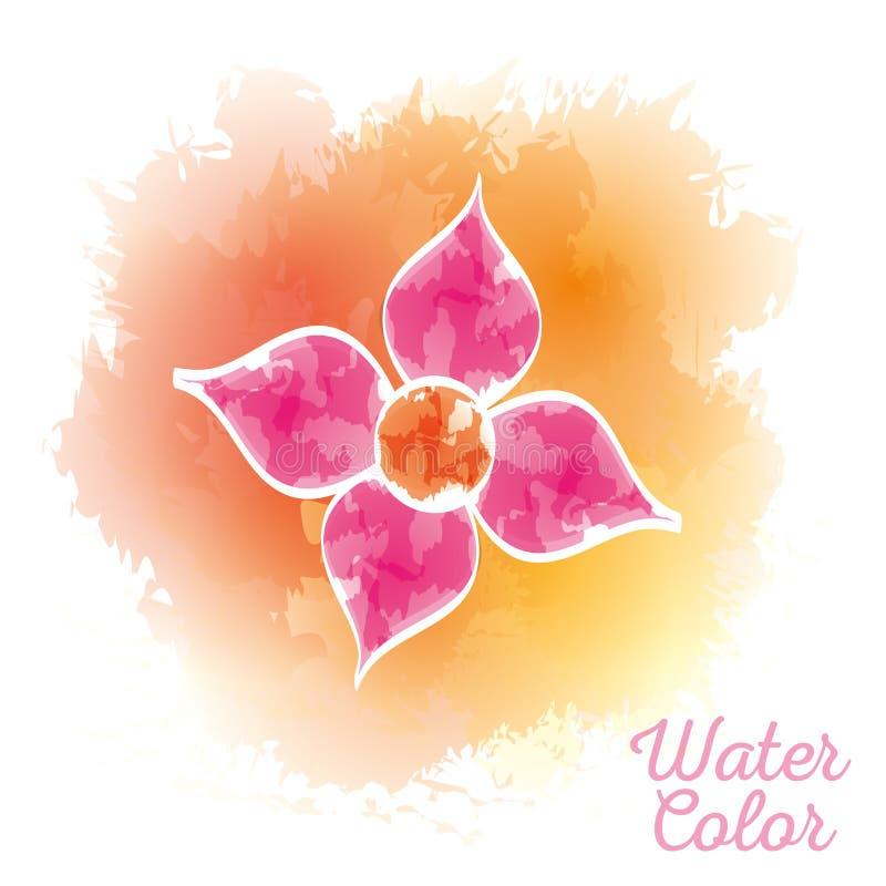 Peinture d'aquarelle de fleur de beauté illustration libre de droits