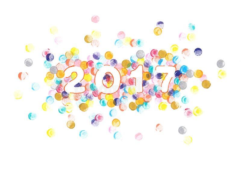 Peinture 2017 d'aquarelle de nouvelle année illustration stock