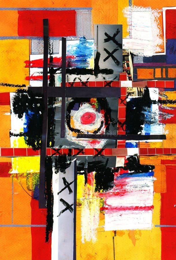 Peinture d'art et de collage et abstrait et couleur photo libre de droits