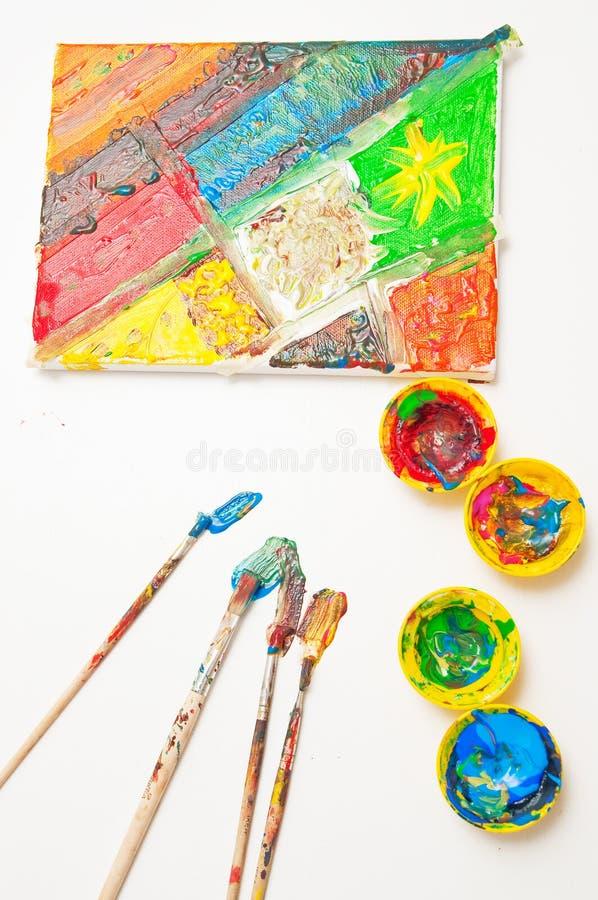 Peinture D Enfant Photographie stock