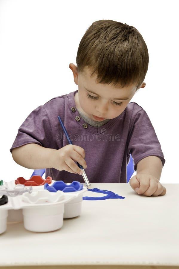 Peinture d'enfant en bas âge images libres de droits