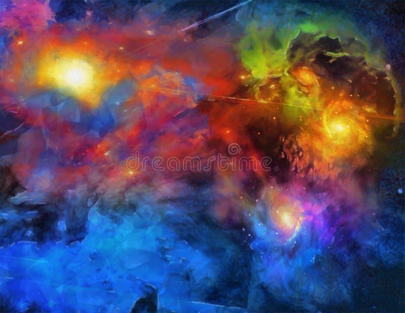 Peinture d'espace lointain illustration de vecteur