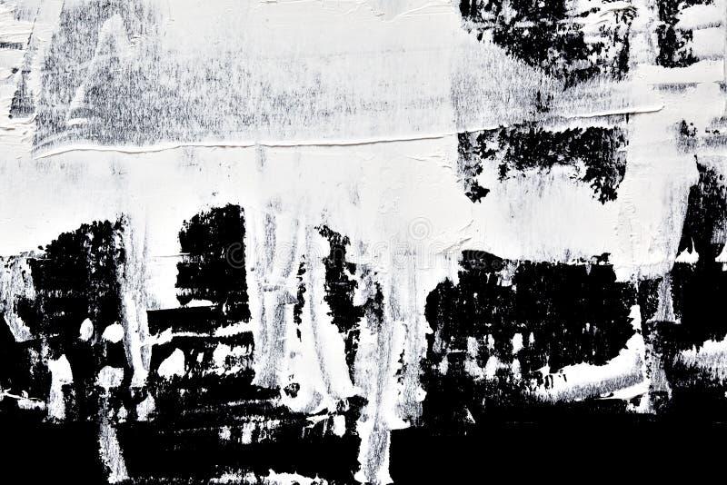 Peinture d'huile paraffinée - composition abstraite illustration stock