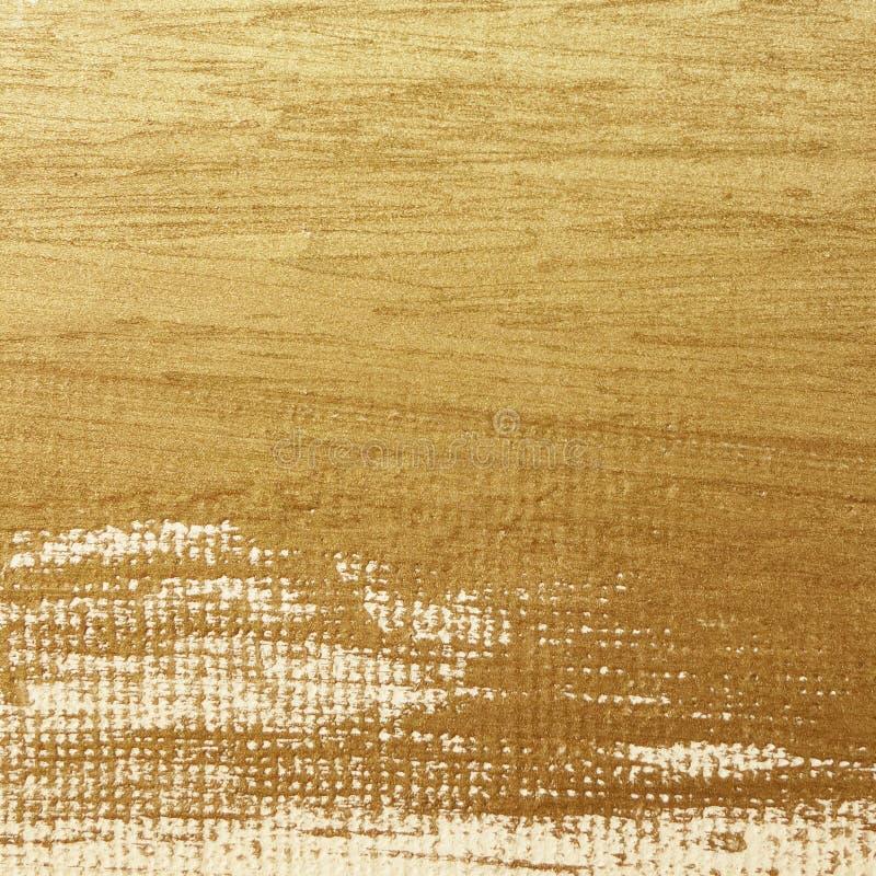 Peinture d'or sur la toile illustration de vecteur