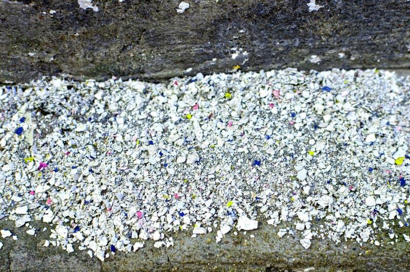 Peinture de émiettage de mur en béton, fond abstrait photographie stock libre de droits