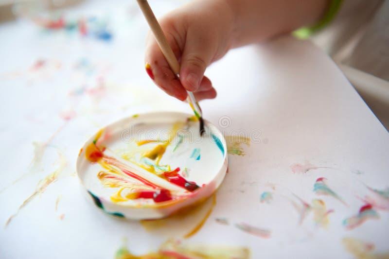 Peinture de bébé photo libre de droits