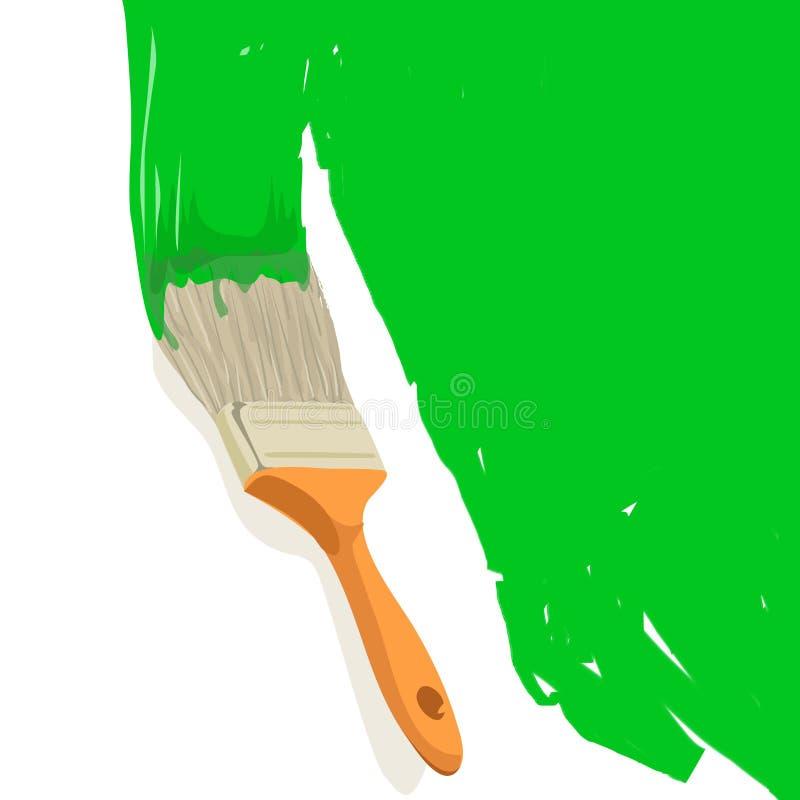 peinture de balai illustration de vecteur