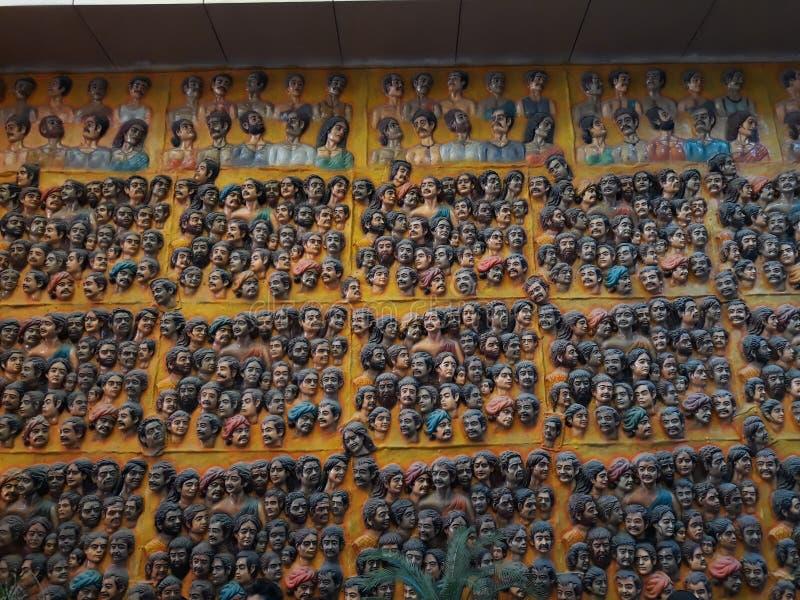 Peinture de beaucoup de personnes photos libres de droits