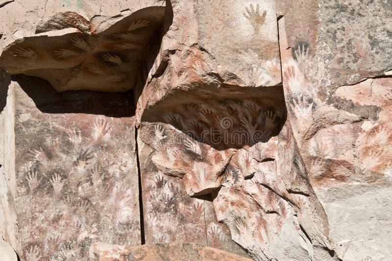 Peinture de caverne préhistorique photos libres de droits
