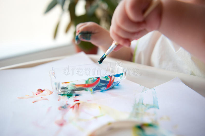 Peinture de chéri photos libres de droits