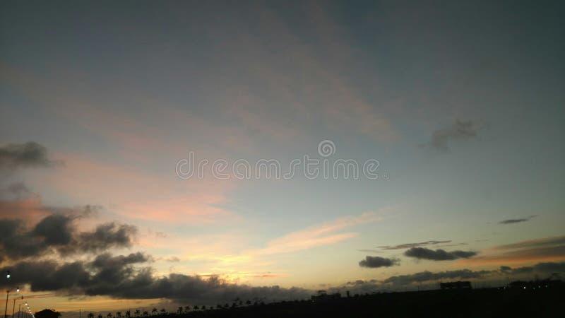 Peinture de ciel bleu photo stock