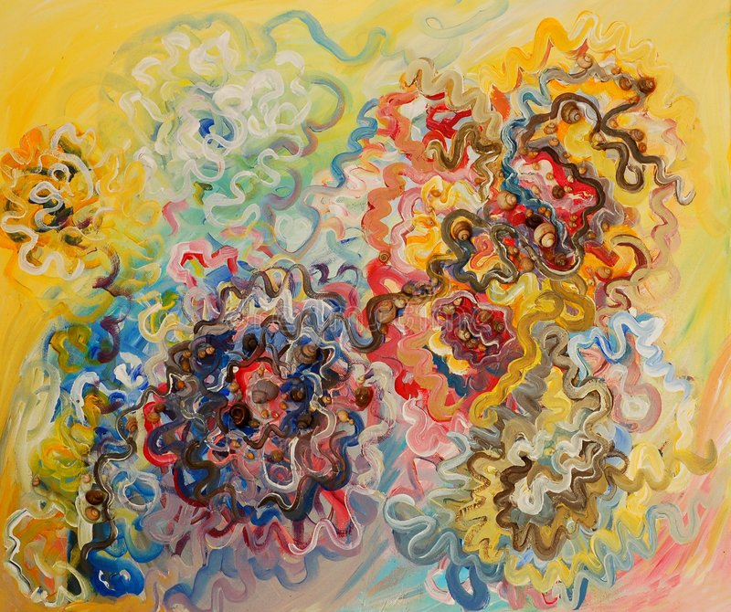 Peinture de couleurs à l'huile illustration libre de droits