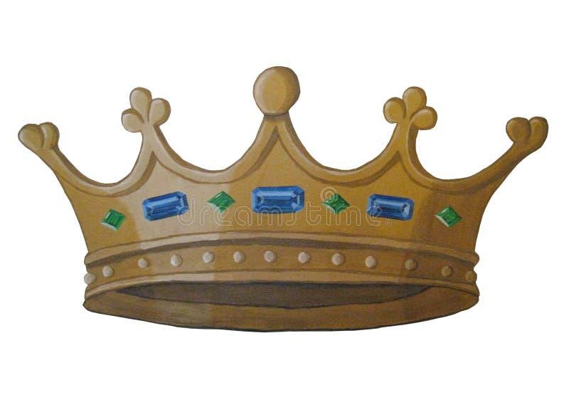 Peinture de couronne d'or photos libres de droits