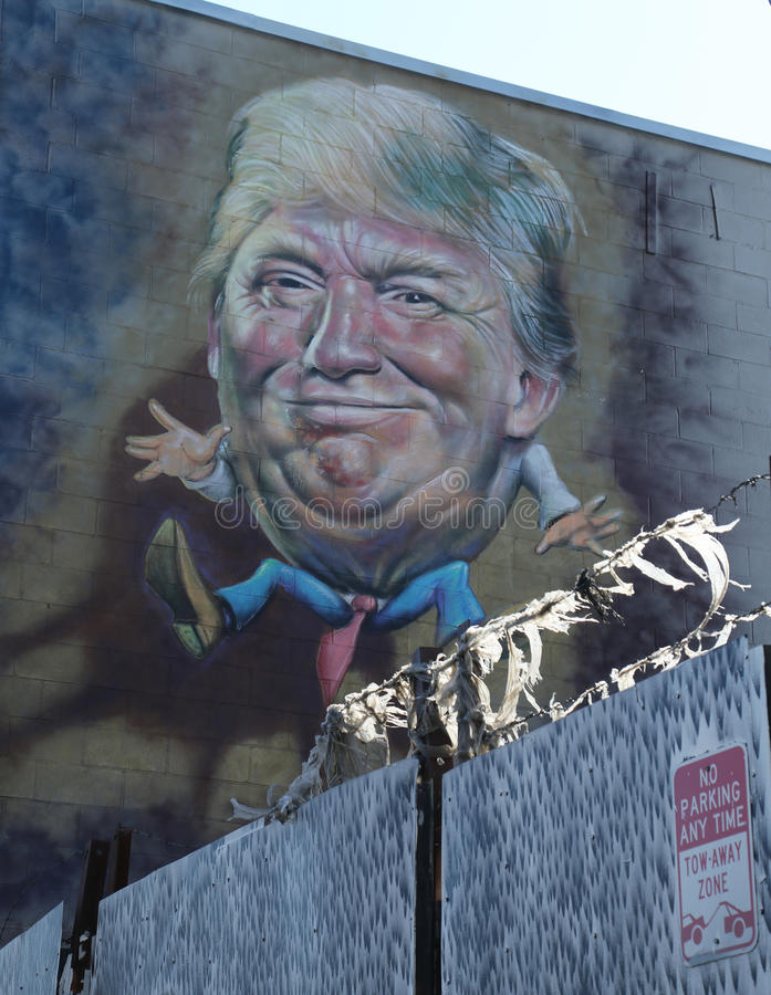 Peinture de Donald Trump à Williamsburg est à Brooklyn photographie stock