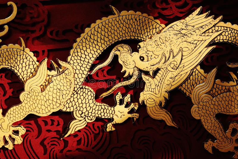 Peinture de dragon de chinois traditionnel photos libres de droits