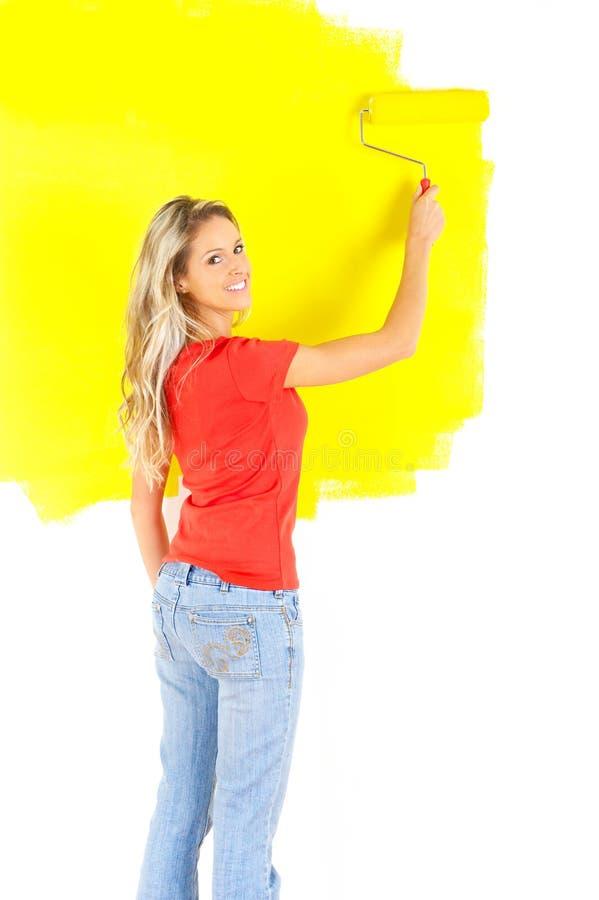 Peinture de femme image libre de droits