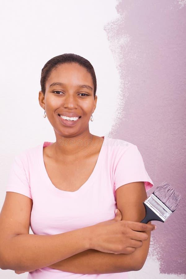 Peinture de femme d'Afro-américain image libre de droits