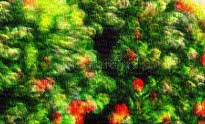 Peinture de feuille et de fleur photographie stock