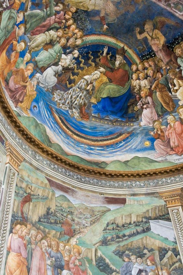 Peinture de Filippo Lippi dans la cathédrale de Spoleto photo libre de droits