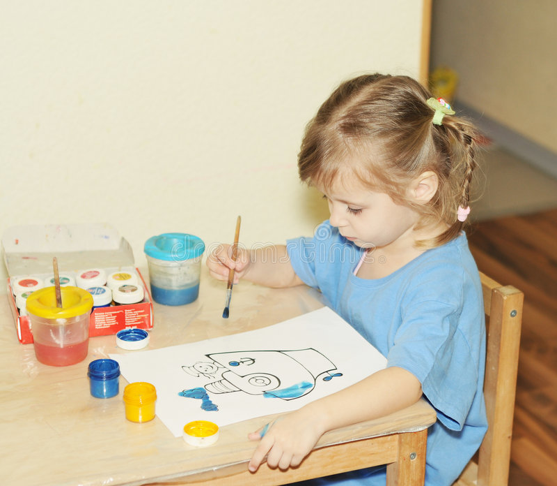 peinture de fille photo libre de droits