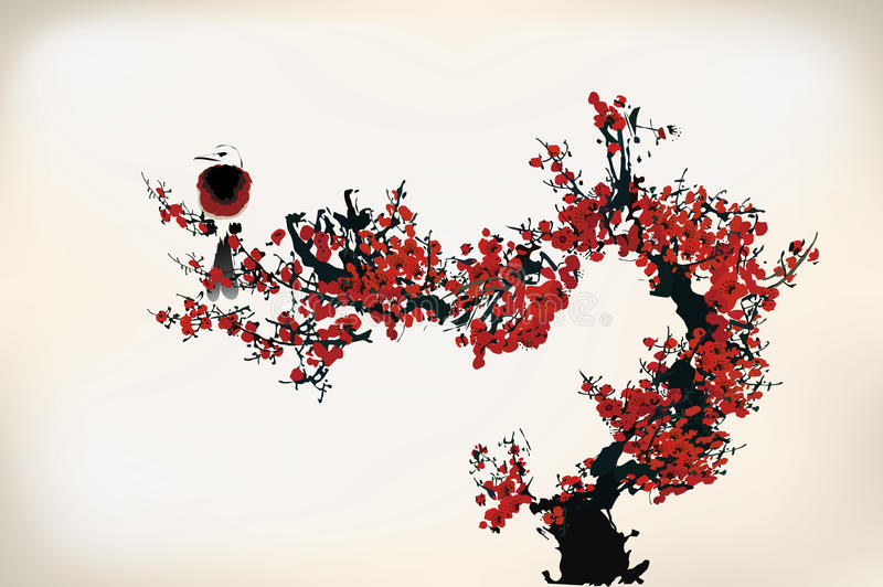 Peinture de fleur illustration libre de droits