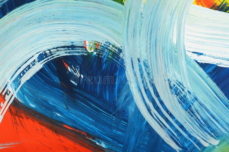 Peinture de gouache d'art abstrait illustration libre de droits