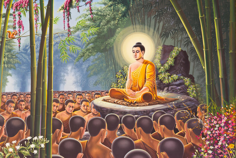 Peinture de Hanuman sur le temple du mur d'Emerald Buddha, Bangkok images libres de droits