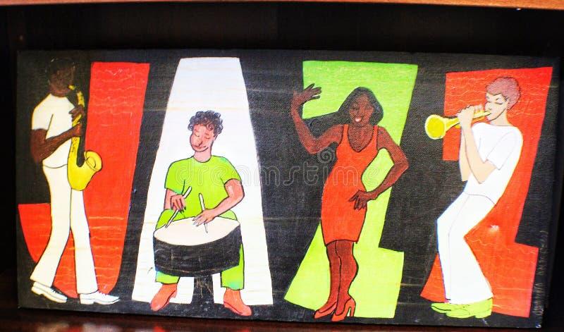 Peinture de jazz photo stock