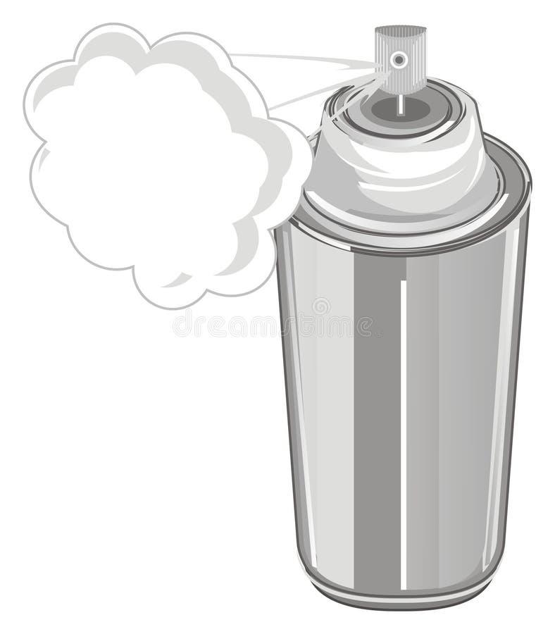 Peinture de jet avec le nuage illustration de vecteur