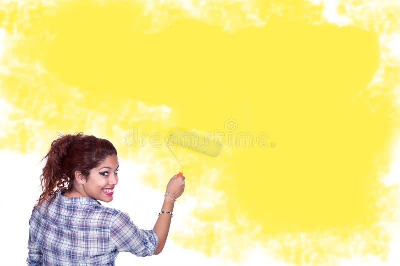 Peinture de jeune femme photos stock