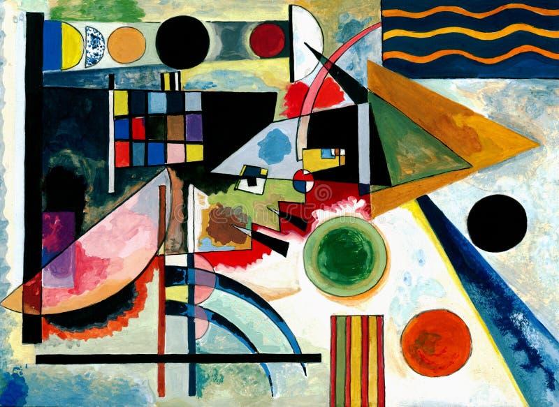 Peinture de la façon de Vasily Kandinsky illustration de vecteur