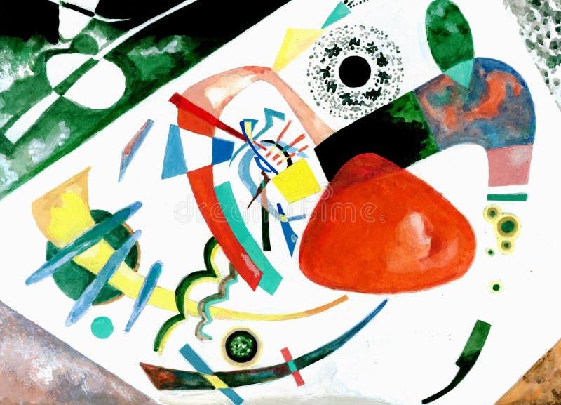 Peinture de la façon de Vasily Kandinsky illustration stock