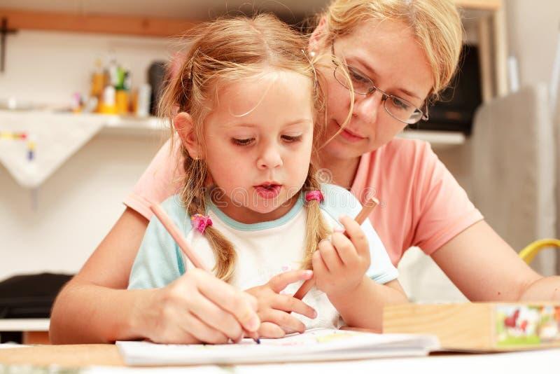 Peinture de mère et d'enfant photo libre de droits