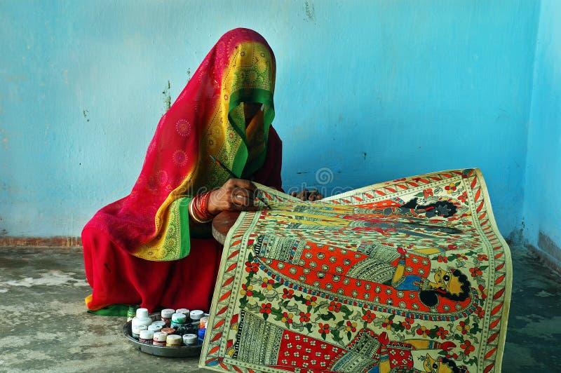 Peinture de Madhubani en Bihar-Inde images stock