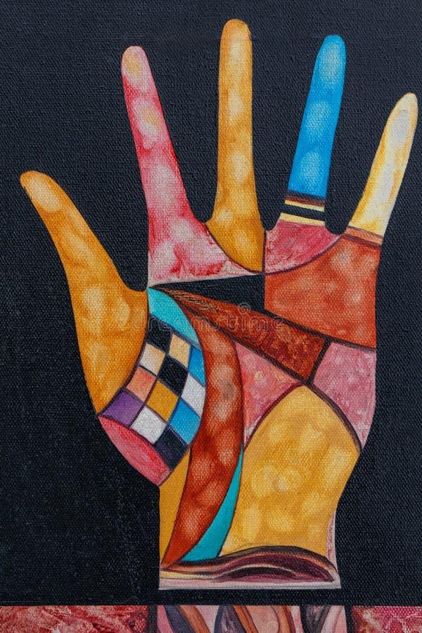 Peinture de main, style d'avant-garde images stock