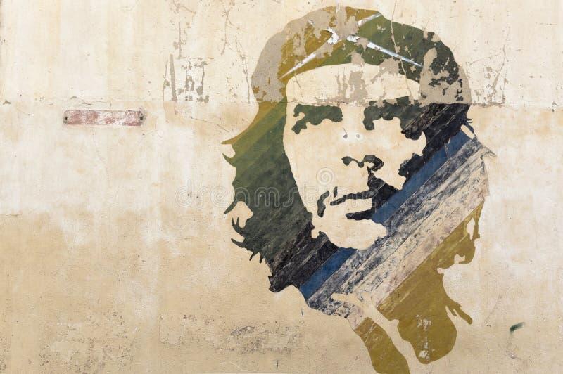 Peinture de mur de Che Guevara photo libre de droits
