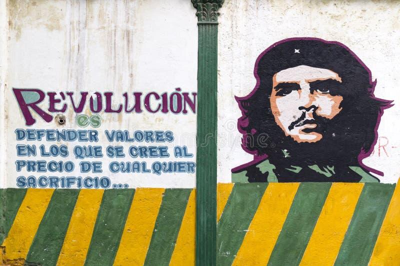 Peinture de mur de Che Guevara image stock