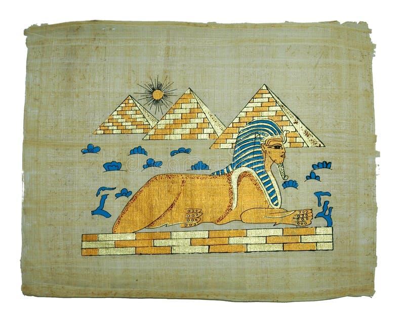 Peinture De Papyrus Photo stock