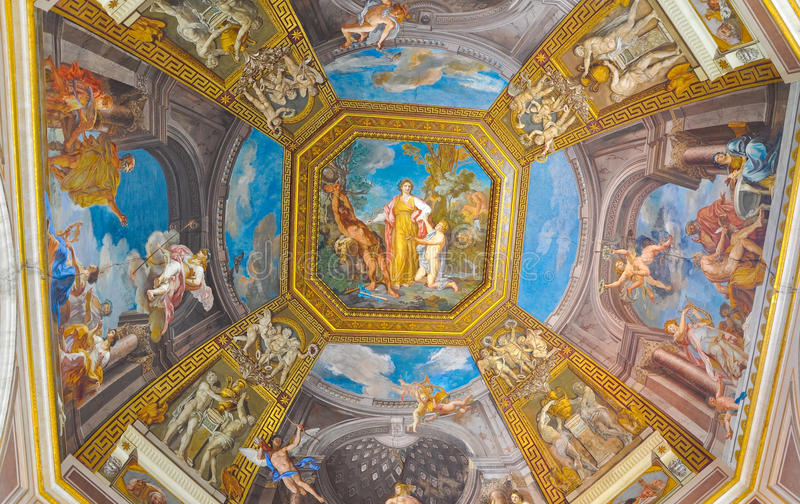 Peinture de plafond à Vatican. photo libre de droits