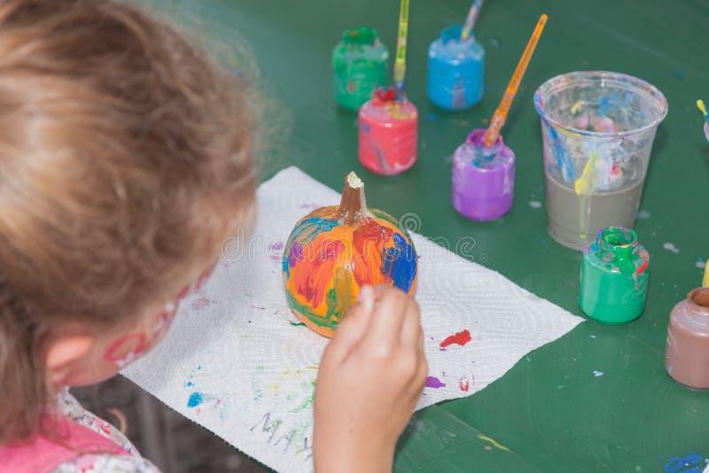 Peinture de potiron photos libres de droits