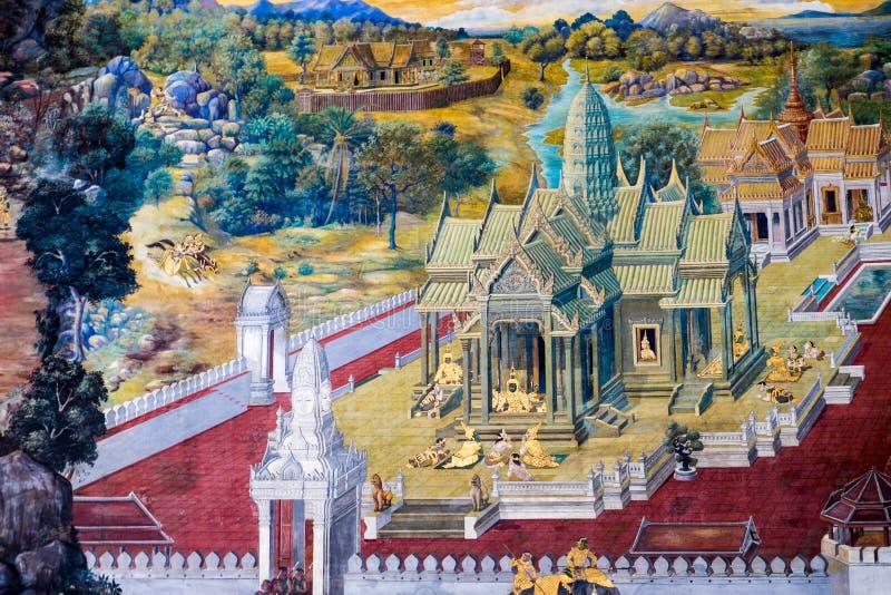 Peinture de Ramayana sur le mur image libre de droits