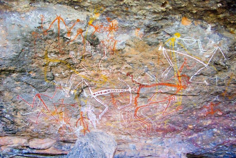 Peinture de roche photo stock