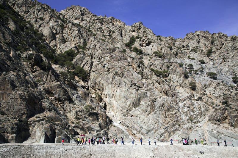 Peinture de roche de montagne de Helan image libre de droits