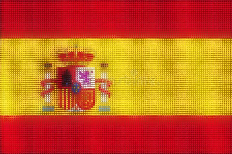 Peinture de tuiles de coeur de mosaïque du drapeau espagnol illustration libre de droits