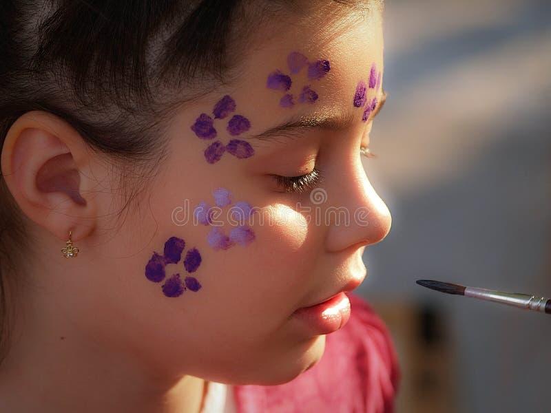 Peinture de visage photographie stock libre de droits