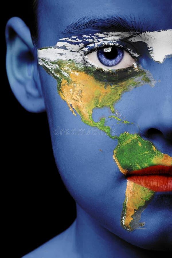 Peinture de visage - Amérique image stock